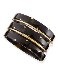 Ashley Pittman | Metallic Makali Dark Horn Bangles | Lyst