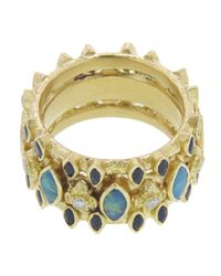 Armenta - Blue Wide Marquis Band Ring - Lyst