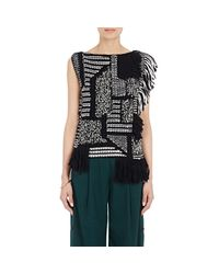 Maiyet - Black Fringed Boucle Knit Tunic Top - Lyst