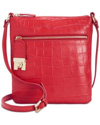 Tommy Hilfiger | Red Faye Croco Leather Small Crossbody | Lyst