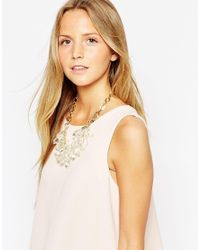 Ted Baker | Metallic Droplet Bead Cluster Necklace | Lyst