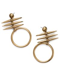 Tory Burch | Metallic Metal Triple-horn Drop Earring | Lyst