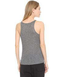 Theory | Black Tinted Leen Tank - White | Lyst