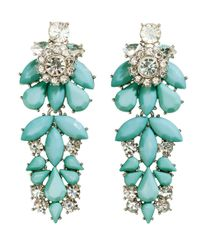 H&M - Blue Sparkly Earrings - Lyst