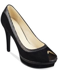 Marc Fisher | Black Monaye Platform Pumps | Lyst
