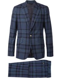 Vivienne Westwood - Blue Plaid Two-piece Suit for Men - Lyst