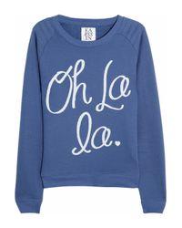 Zoe Karssen | Blue Oh La La Cottonblend Jersey Sweatshirt | Lyst