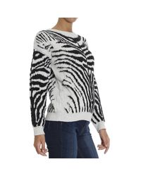 DIESEL - Multicolor Zebra Cotton Blend Jacquard Sweater - Lyst