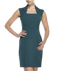 Marc New York | Green Petite Envelope Collar Sheath Dress | Lyst