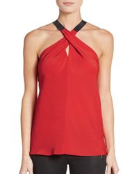 Ramy Brook | Red Lisa Keyhole Crossover Top | Lyst