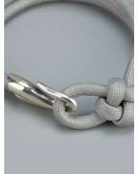Helena Rohner - Gray Knotted Hook Bracelet - Lyst