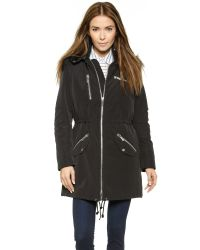 Elizabeth and James | Emery Parka - Black/Black | Lyst