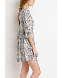 Forever 21 - Natural Print Smock Dress - Lyst