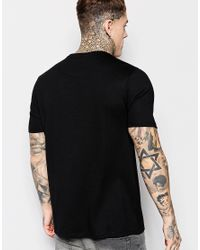ASOS - Blue T-shirt With Faux Suede Panel In Relaxed Skater Fit for Men - Lyst