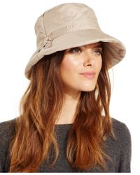 Nine West | Natural Nylon Rain Hat | Lyst