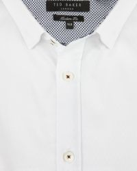 Ted Baker | White Diamond Dobby Shirt for Men | Lyst