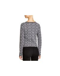 DKNY | Blue Lace Jacquard Long Sleeve Pullover - Bloomingdale's Exclusive | Lyst
