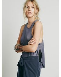 Free People - Gray Intimately Womens Be Free Boy Tank - Lyst