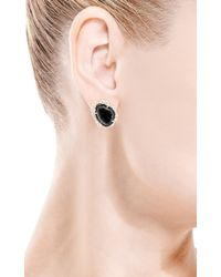 Kimberly Mcdonald - Black One Of A Kind Dark Geode and Irregular Diamond Stud Earrings - Lyst