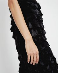 Ted Baker | Black Feather Skirt Dress | Lyst