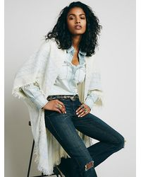 Free People   White Womens Boxy Mockneck Pullover   Lyst