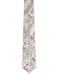 Turnbull & Asser | Multicolor Floral Jacquard Silk Tie, Men's, Lt Brwn for Men | Lyst