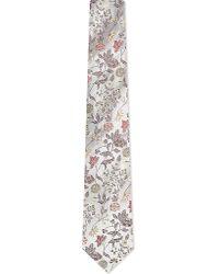 Turnbull & Asser | Multicolor Floral Jacquard Silk Tie, Men's, Lt Brwn for Men | Lyst