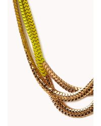 Forever 21 - Yellow Posh Layered Necklace - Lyst