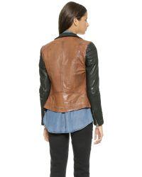 Muubaa - Brown Tekana Contrast Jacket - Tan/Black - Lyst