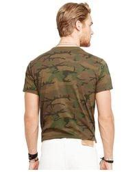 Denim & Supply Ralph Lauren - Green T-shirt, Short-sleeve Flag Graphic T-shirt for Men - Lyst
