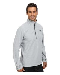 The North Face | Gray Texture Cap Rock 1/4 Zip for Men | Lyst