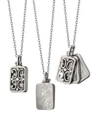 Monica Rich Kosann | Metallic 18k White Gold Rectangle Gate Locket Necklace | Lyst