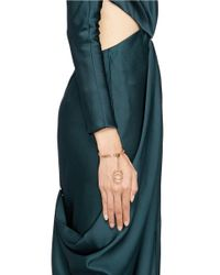 Chloé | Metallic 'carly' Ring Charm Chain Bracelet | Lyst