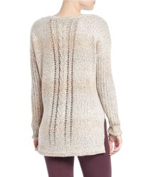 Sanctuary | Natural Marled Knit Pullover | Lyst