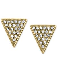 Michael Kors | Metallic Crystal Pavé Triangle Stud Earrings | Lyst