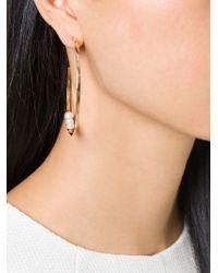 Vita Fede - Metallic Pearl Loop Earrings - Lyst