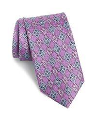 JZ Richards   Purple Geometric Silk Tie for Men   Lyst