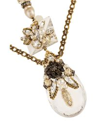 Erickson Beamon | Metallic Ballroom Dancing Gold-Plated, Faux Pearl And Swarovski Crystal Necklace | Lyst