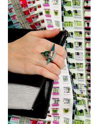 Joomi Lim - Green Set Of 3 Crystal Rings - Lyst