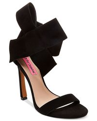 Betsey Johnson | Black Frisk Suede Dress Sandals | Lyst