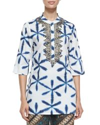 Figue - Multicolor Jasmine Printed Bead-Embellished Tunic - Lyst