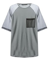 Christopher Kane - Gray Sheer Sleeve T-Shirt for Men - Lyst