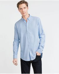 Zara | Blue Printed Shirt for Men | Lyst