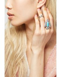Forever 21 | Blue Peyote Bird Turquoise Thunderbird Ring | Lyst