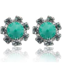 Joomi Lim - Green Crystal Baroque Punk Stud Earrings - Lyst