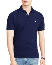 Ralph Lauren - Blue Polo Stretch-mesh Slim Fit Polo Shirt for Men - Lyst