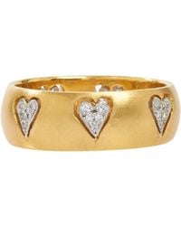 Cathy Waterman - Metallic Floating Hearts Band - Lyst