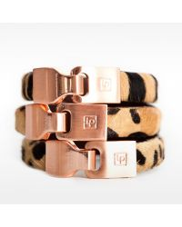 Linea Pelle | Pink Hook Closure Bracelet | Lyst