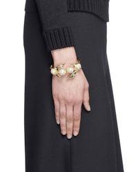Lulu Frost | Metallic 'oleander' Caged Glass Pearl Cuff | Lyst