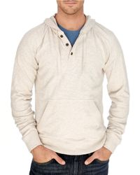 Lucky Brand | Natural Lightweight Henley Sweatshirt for Men | Lyst